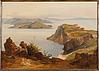 Landscape with Capri island in the distance