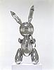 Silver rabbit sculpture
