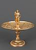 Gold coloured dish with figure of Nero