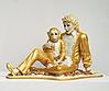 Michael Jackson and Bubbles in gold
